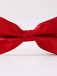 Red Paisley Formal Twill Butterfly Bow Tie