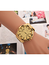 European and American men and women selling Swiss quartz watch 3-color alloy fake gold band calendar watch Wrist Watch Cool Watch Unique Watch