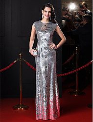 TS Couture® Formal Evening Dress Sheath / Column Jewel Floor-length Sequined with Crystal Detailing