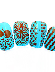 3pcs nieuwe 12x6cm image diy stamping platen nail art templates stencils voor polish xy-L14 (01-32) willekeurige aflevering