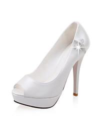 Women's Shoes Leatherette Spring / Summer / Fall Peep Toe / Platform Wedding / Dress / Party & Evening Stiletto Heel Sparkling Glitter