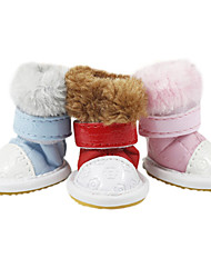 Dog Shoes & Boots Fashion Red / Blue Summer PU LeatherDog Shoes