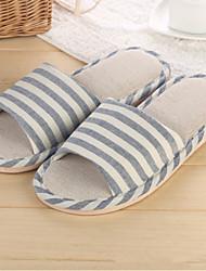 Men's Shoes Casual Linen Slippers Black / Blue
