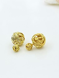 Earring Stud Earrings / Drop Earrings Jewelry Women Alloy / Platinum Plated / Gold Plated 1set Gold / Silver
