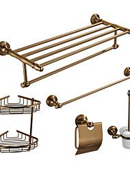 Set di accessori per il bagno , Tradizionale Alluminio A muro