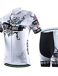 CHEJI Women's Breathable Cycling Bike Short Sleeve Clothing Bicycle Sports Wear Suit Jersey Shorts