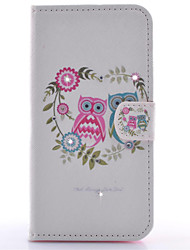 For Samsung Galaxy S7 Edge Wallet / Card Holder / with Stand / Flip Case Full Body Case Owl PU Leather SamsungS7 edge / S7 / S6 edge / S6