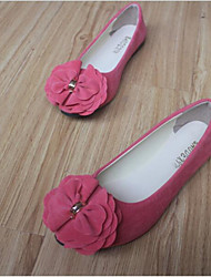 Women's Shoes Flat Heel Round Toe Flats Casual Black / Blue / Red / White / Gray / Fuchsia / Burgundy / Coral
