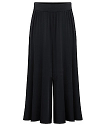 Women's Solid Blue / Black Wide Leg Pants,Casual / Day / Active