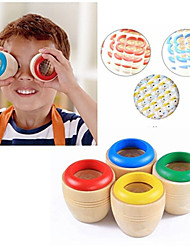 1pc enfant jouet classique éducatif magie en bois coloré kaléidoscope prisme