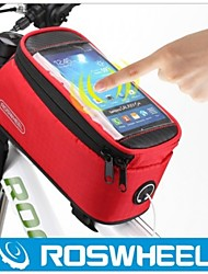 ROSWHEEL® Bolsa de Bicicleta 1.7LLBolsa para Quadro de Bicicleta Á Prova-de-Água / Vestível / Touch Screen Bolsa de BicicletaPele PU /