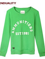 Trenduality® Hombre Escote Redondo Manga Larga Camiseta Verde - 47071