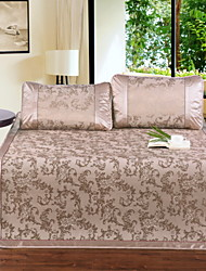 Yuxin®Jacquard ice Siya hemp mat summer air-conditioned seats ice silk mat mat single or double  Bedding Set