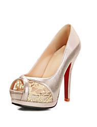 Women's Wedding Shoes Heels / Peep Toe / Platform Sandals Wedding / Party & Evening / Dress Silver / Gold