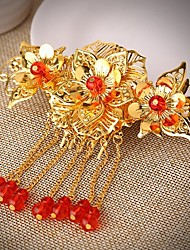 Vintage Fashion Wedding Party Women Bride Tassels Flowers Hair Combs