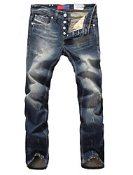 High Quality Famous Brand Men Jeans Straight Fit Men Casual Leisure Pants 100% Cotton Denim Jeans