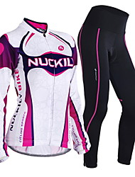 NUCKILY® Cycling Jersey with Tights Women's Long Sleeve BikeBreathable / Thermal / Warm / Windproof / Anatomic Design / Moisture