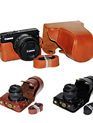 Dengpin PU Leather Camera Case Bag Cover with Shoulder Strap for Canon EOS M10 15-45 Lens (Assorted Colors)