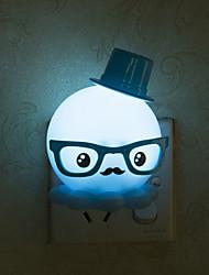 lovely luz polvo inteligente luz de emergência controlada levou luz da noite para decoração kids room casa (cores sortidas)