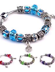 Bracelet Charmes pour Bracelets Bracelets Vintage Alliage Soirée Quotidien Décontracté Bijoux Cadeau Rouge Bleu Vert Violet,1pc