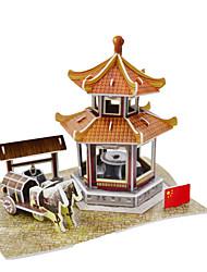 Pavilhão chinês quebra-cabeças 3D de papel DIY brinquedos moldagem brinquedos