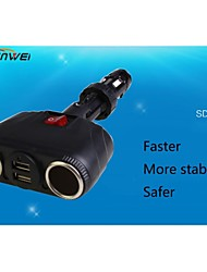 SHUNWEI Car Electronics Dual-Port Rapid USB Car Charger Cigarette Charger