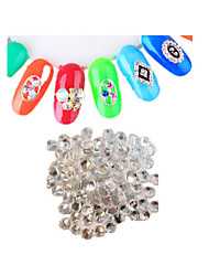 1440pcs/pack SS4 White Colors DIY Crystal Glass Designs Nail Art Rhinestones 3d Decoration Diamond NC238