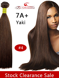 "1Pc/Lot 14""7A Brazilian Virgin YaKi Hair Natural Color Straight Human Hair Weave ,Hair Weft #4"