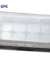 6 unidades de almacenamiento de la batería blanco caso / organizador / sostenedor para 18650 o la batería cr123a