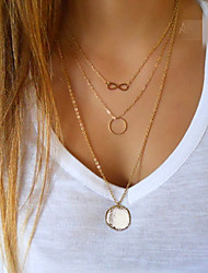 Necklace Pendant Necklaces Jewelry Party / Daily / Casual Fashion Alloy Gold 1pc Gift