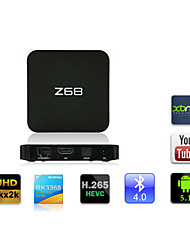z68 rk3368 android 5.1 4k uhd tv box 2g / 16g 2.4g / 5g double bande wifi 1000m ethernet bluetooth4.0 kodi hdmi H.265