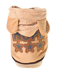 Dog Hoodie Brown Summer Fashion