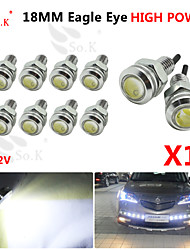 10x 18mm 9w LED blanche aigle sauvegarde DRL oeil diurne brouillard 12v auto voiture