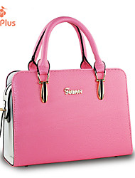 M.Plus® Women's Fashion Ruffles Solid PU Leather Messenger Shoulder Bag/Tote