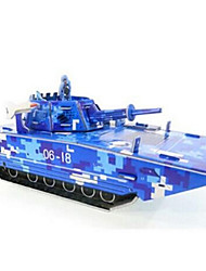 Jigsaw Puzzles 3D Puzzles Building Blocks DIY Toys Tank Paper Blue Model & Building Toy