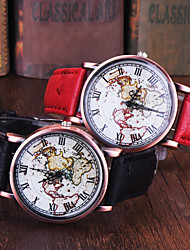 High Quality FeiFan Brand Vintage Leather Strap Watch World Map Watch Unisex Quartz watches