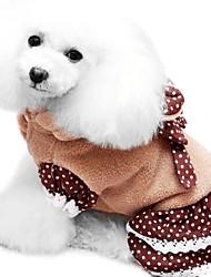 Dog Dress Pink Winter Fashion