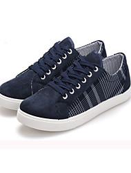 Zapatos de Hombre-Sneakers a la Moda-Exterior-Tela-Azul / Amarillo
