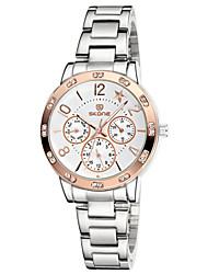 SKONE ® Chronograph Luminous Star Rhinestone Rose Gold Silver Watches Women Fashion Quartz Dress Watch Lady Wristwatches