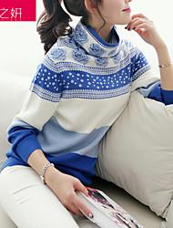 Pullover Aux femmes Manches Longues Vintage Polyester / Spandex Moyen