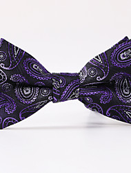Purple Paisley  A Formal Butterfly Bow Tie