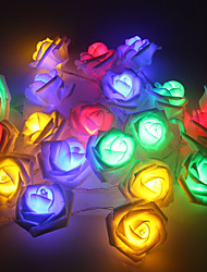 5M 50 LED Rose Flower Fairy String Light Wedding Party Christmas Decoration Battery Lights