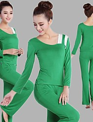 Yoga Suit Sports Causal Running Clothing Fitness Clothes Yoga Wear Gear Suits = Long Sleeve Top + Long Trousers