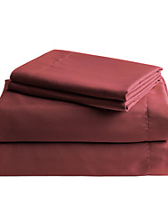 Red Solid Microfiber Sheet Sets