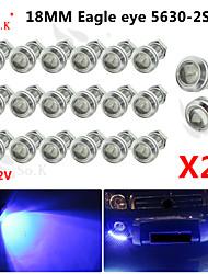 20x 18mm 9w led bleu aigle sauvegarde DRL oeil diurne brouillard 12v auto voiture