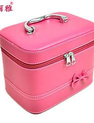 Хранение косметики Коробка с косметикой / Хранение косметики Полиэстер Однотонный Квадрат 21.5x15x16.5cm Оранжевый / Белый / Роуз