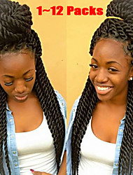 Hot Selling New Products Synthetic Hair Brown Havana Jumbo Twist Braids 24inch Synthetic Twist Crochet Braids.