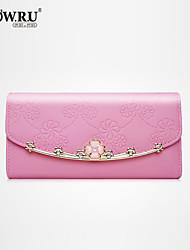 HOWRU ® Women 's PU Long Wallet/Card/Clutch bag-Pink