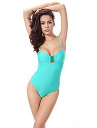 Mulheres Maiô Sólido Nadador Com Bojo Nylon / Elastano Mulheres