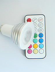 1 pcs SchöneColors GU10 4W High Power LED 300LM Dimmable / Remote-Controlled / Decorative RGB LED Spotlight AC 100-240 V